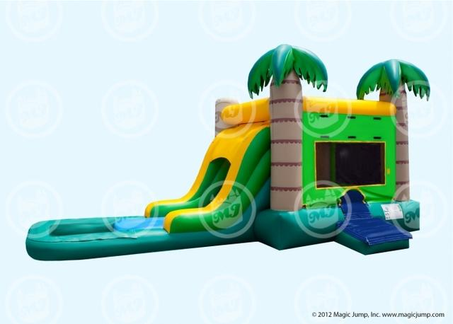 EZ Tropical Combo Bounce n Slide (WET)