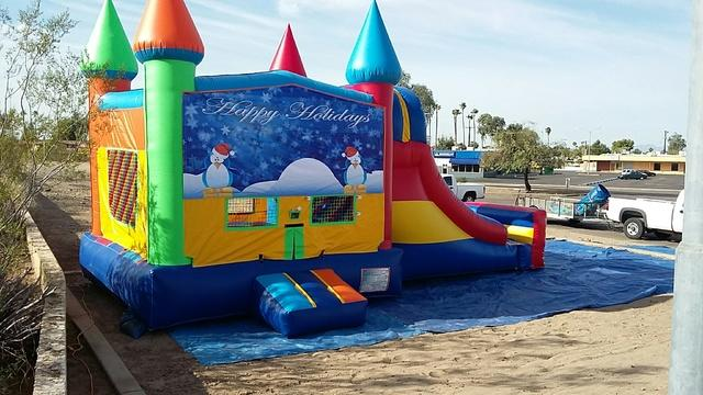 Holiday Banner Bounce House
