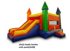 Fall Special 1 Medium Castle Bounce House Plus Cotton Candy Machine Combo