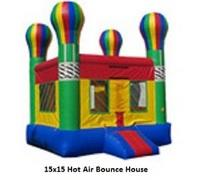 Fall Special 2 Hot Air Balloon Bounce House plus Tables & Chairs Combo