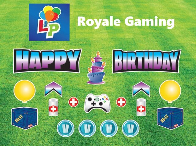 Royale Gaming - Happy Birthday - Yard Card Greeting