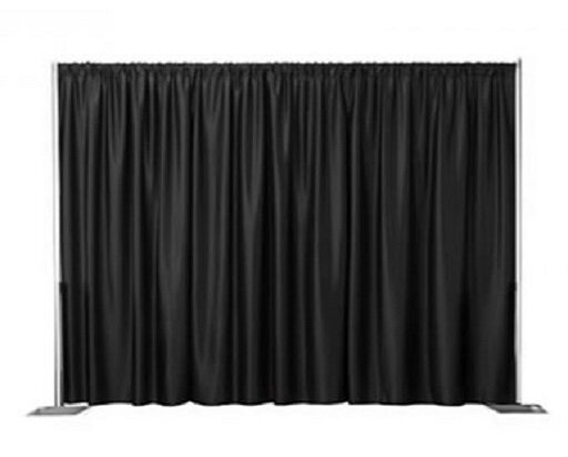 Black Fabric Draping - 10ft Backdrop