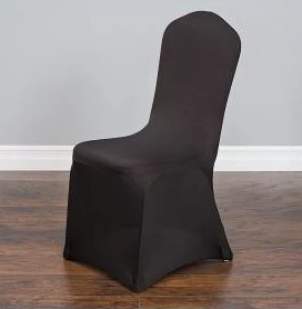 Black - Spandex Chair Cover - Rental