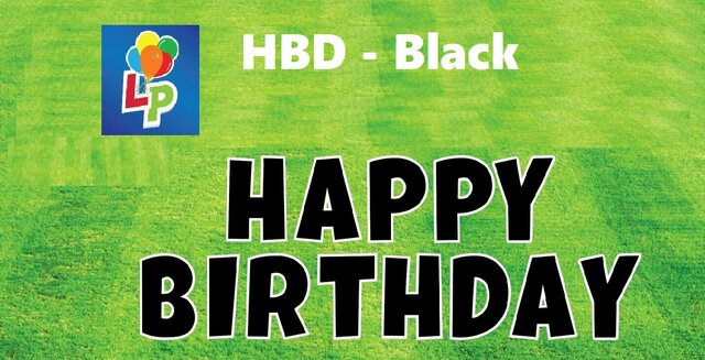 Happy Birthday Black- Yard Card Greeting