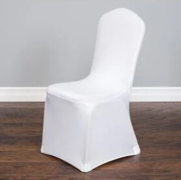 White - Spandex Chair Cover- Rental