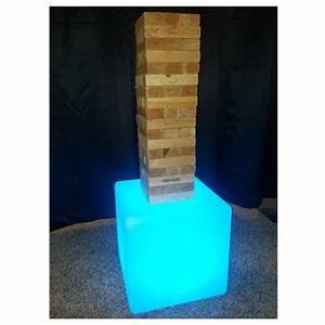 LED GIANT Jenga Carnival Game Rental
