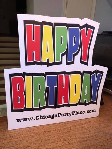 Happy Birthday Marquee Yard Sign