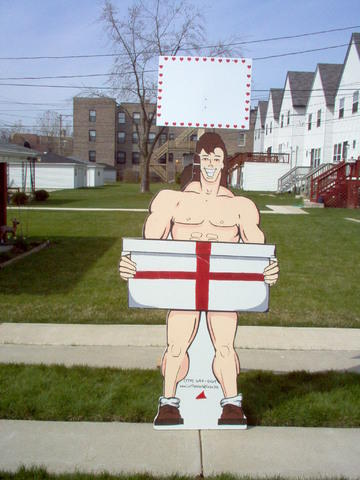 Buff Guy Yard Sign
