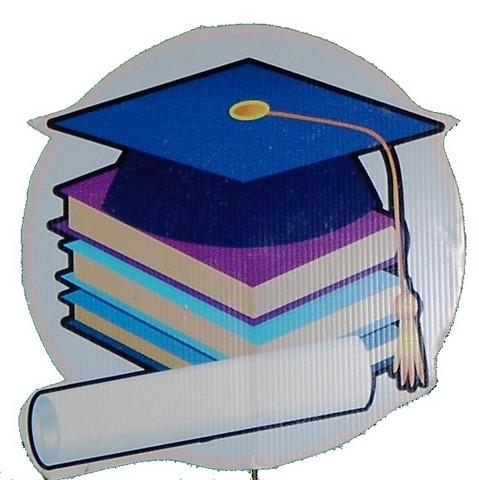 Graduation Books Yard Signs