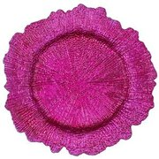 Fuchsia Reef Acrylic Plastic Charger Plate