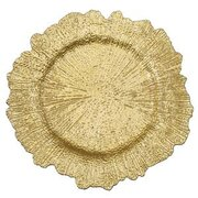 Gold Reef Acrylic Plastic Charger Plate