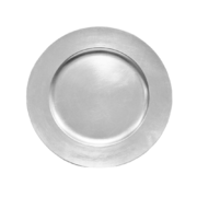 Silver Acrylic Charger Plate