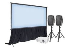 Projector & Screen + PA System
