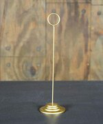 Gold Table Stanchion Menu / Card Holder