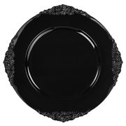 Black Vintage Acrylic Charger Plate