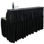 Black Linen Bar Two Level 6' Table