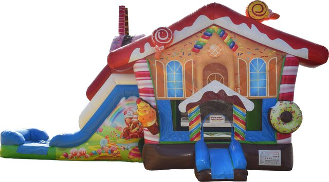 Candy Land Bounce House with Slide Dry