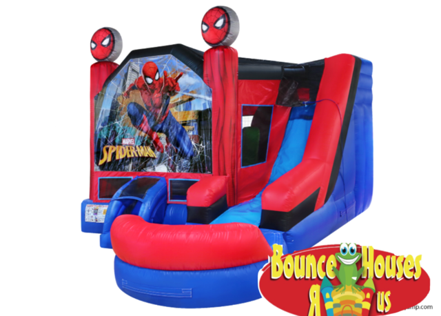 Spider Man Bounce House with Wet Slide