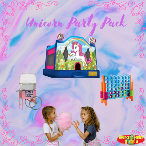 Unicorn Bounce House Party Pack