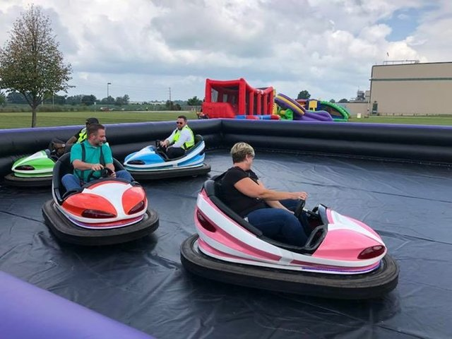 Bumper Cars With Inflatable Track