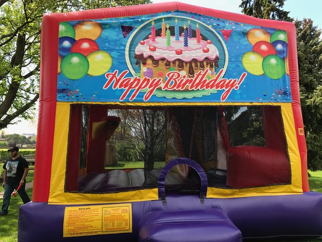 4-1 Happy Birthday bounce House Slide Combo