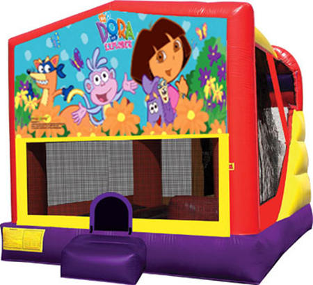 4-1 Dora Bounce House Slide Combo