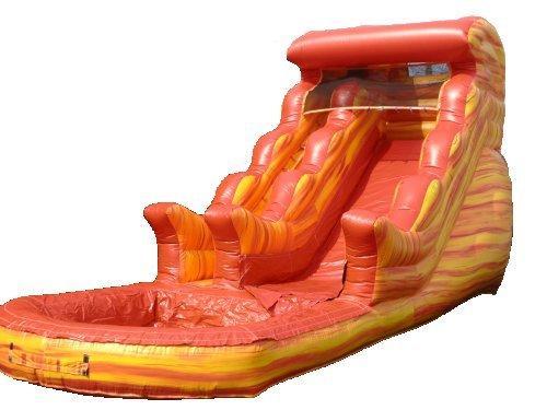 16' Fireball Splash Inflatable Water Slide with pool