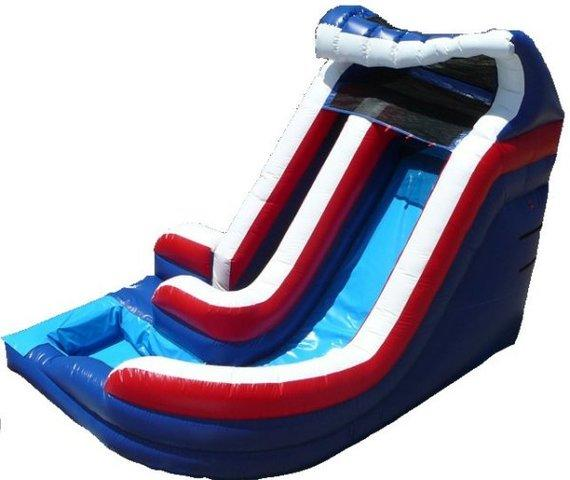12' Patriotic Plunge Inflatable Water slide with pool