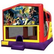 4-1 Batman Bounce House Slide Combo