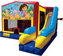 7-in-1 Dora The Explorer Themed Inflatable
