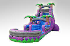 22' Purple Crush Water Slide with pool