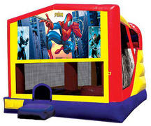 4-1 Spiderman Bounce House Slide Combo