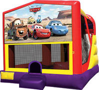4-1 Disney Cars Bounce House Slide Combo