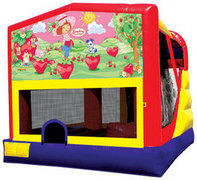 4-1 Strawberry Shortcake Combo Bounce House