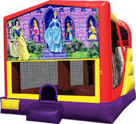 4-1 Disney Princess Bounce House Slide Combo