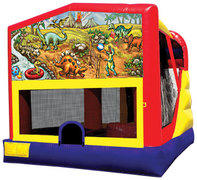 4-1 Dinosaur Bounce House Slide Combo
