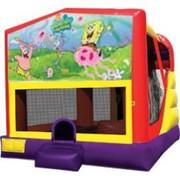 4-1 Spongebob Bounce House Slide Combo