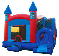 Castle Bounce House Slide Combo
