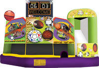 Sports Themed 5-in Combo Bounce House