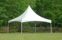 10' x 10' High Peak Frame Tent (White)
