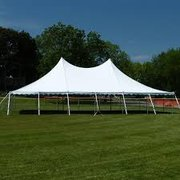 20' x 20' High Peak Rope & Pole Tent (white)