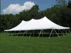 40'x40' High Peak Rope & Pole Tent