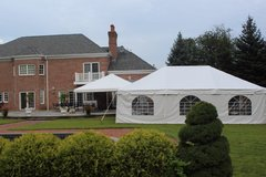 100 Person Frame Tent Package (Multiple Tents White)