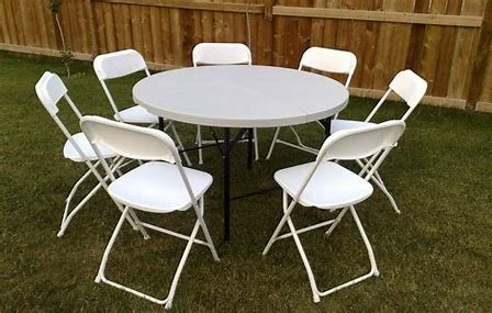 (1) round Table & 6 chairs
