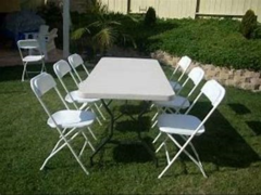 (3) rect tables  & (24) chairs