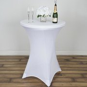 COCKTAIL TABLE WITH LINEN (ONLY OFFERED WEEKENDS)