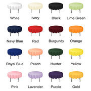 "48"" ROUND COLORED TABLECLOTHS (ONLY OFFERED WEEKENDS)"