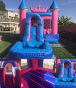 Princess castle combo water slide