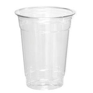 16 oz. Clear Plastic Cold Cup w/Straws