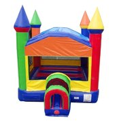 Rainbow Bounce House with Tunnel